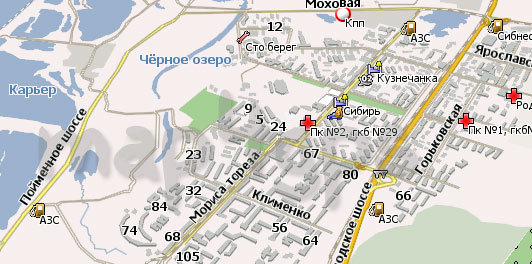 Карта Новокузнецк Навител