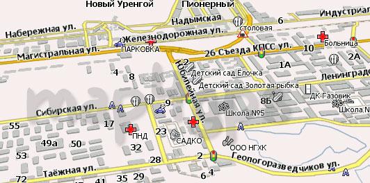 Карта Нового Уренгоя Навител