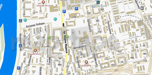 Карта Омска для City Guide
