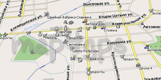 Карта Опочка Навител