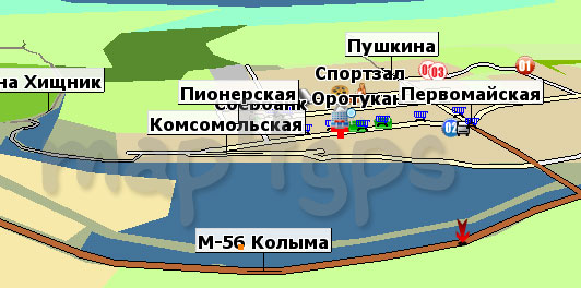 Карта Оротукан GisRX