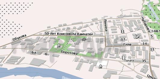 Карта Палана Навител