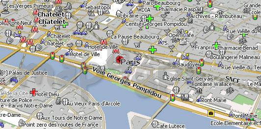 Карта Парижа для Навител