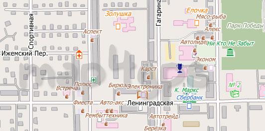 Карта Печора City Guide