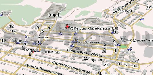 Карта Петровск-Забайкальский Навител Навигатор
