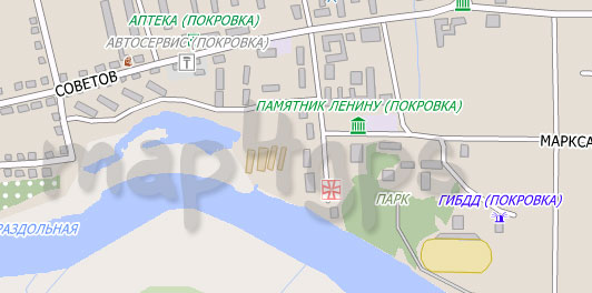 Карта Покровка City Guide
