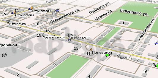 Карта Полевской Навител