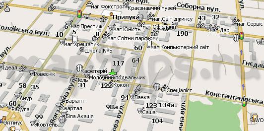Карта Прилуки для Навител