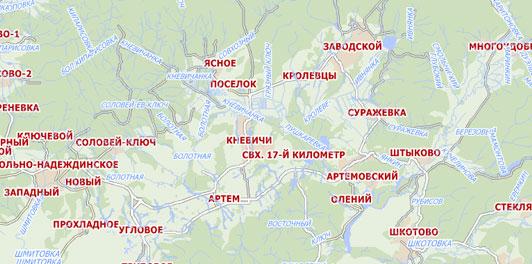 Карта Приморский край City Guide
