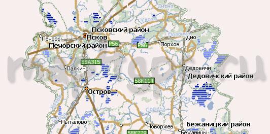 Карта Псковская область Навител