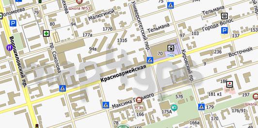 Карта Ростова-на-Дону для City Guide