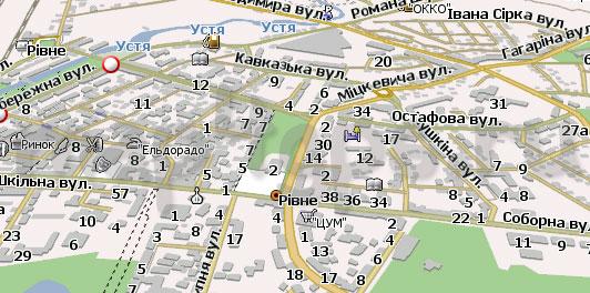 Карта Ровно для Навител