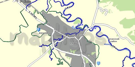 Карта Рязанская область для Семи дорог