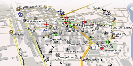 Карта Саяногорск Навител