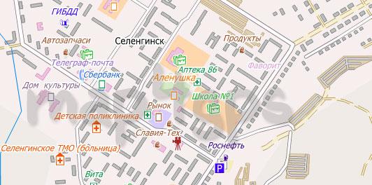 Карта Селенгинск City Guide