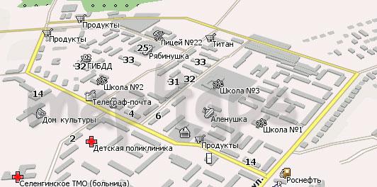 Карта Селенгинск Навител