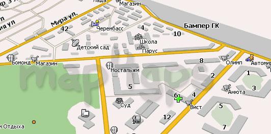 Карта Северобайкальск Навител