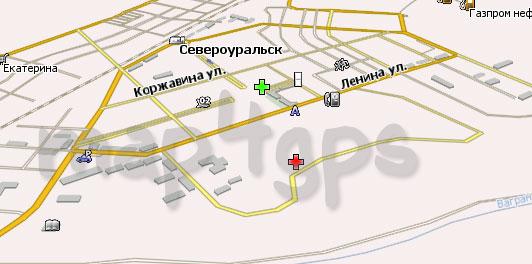 Карта Североуральск Навител