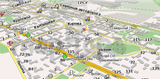 Карта Северск Навител