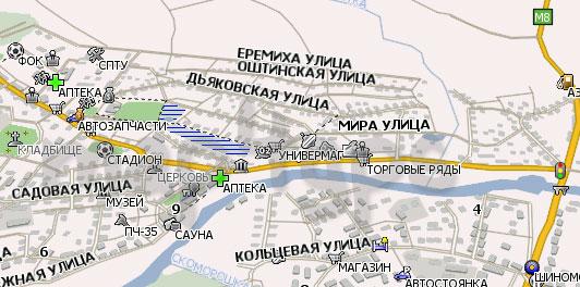 Карта Сямжа Навител