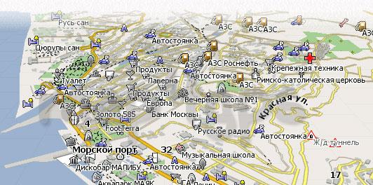 Карта Сочи Навител
