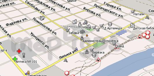 Карта Сосьва Навител