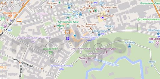Карта Санкт-Петербурга для City Guide