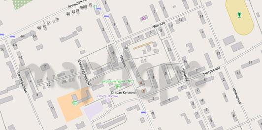 Карта Старой Купавны для City Guide