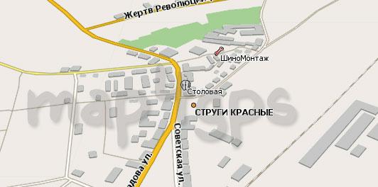 Карта Струги Красные Навител