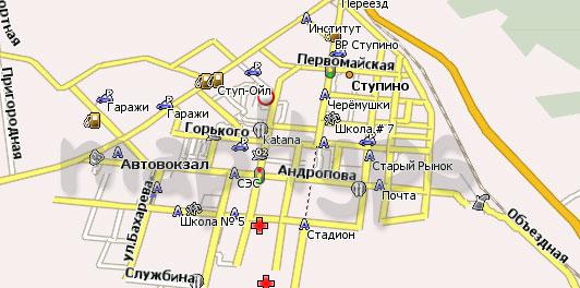 Карта Ступино Навител