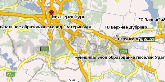 Карта Свердловская область Навител
