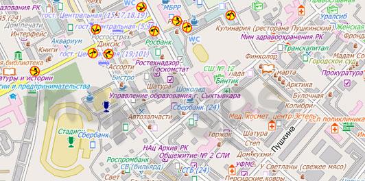 Карта Сыктывкар City Guide