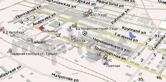 Карта Тайшет Навител Навигатор