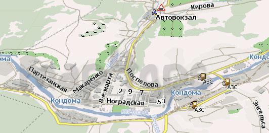 Карта Таштагол Навител