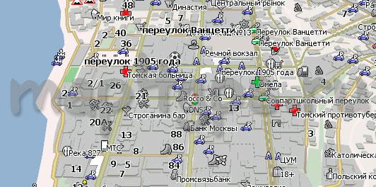 Карта Томск Навител