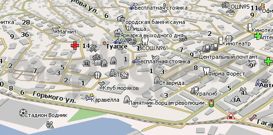 Карта Туапсе Навител