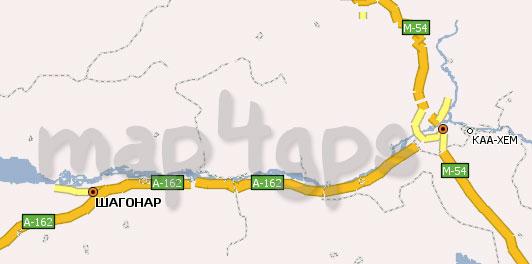 Карта республики Тыва (Тува) Навител