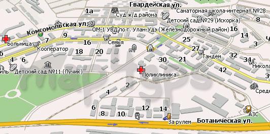 Карта Улан-Удэ Навител Навигатор