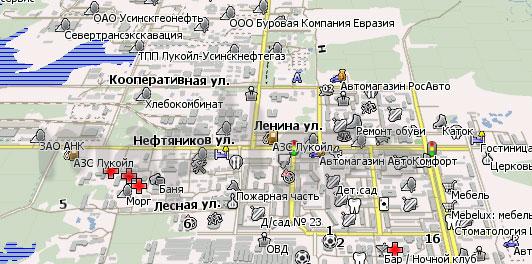 Карта Усинск для Навител Навигатор