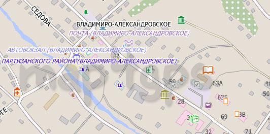 Карта Владимиро-Александровское City Guide