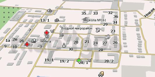 Карта Входной мкр Навител