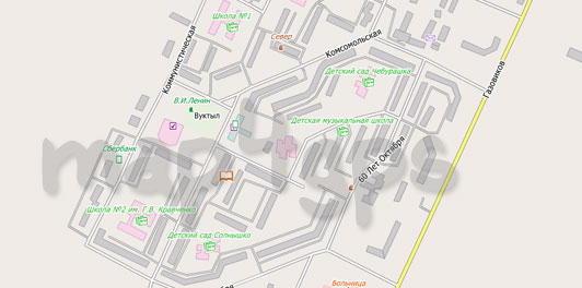 Карта Вуктыл City Guide