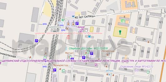 Карта Щербинки для City Guide