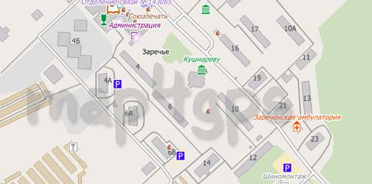 Карта Заречья для City Guide