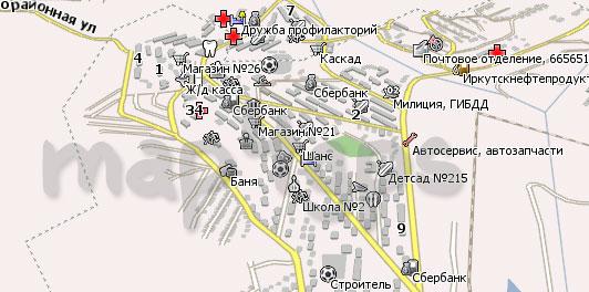 Карта Железногорск-Илимский Навител