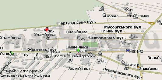 Карта Знаменки для Навител