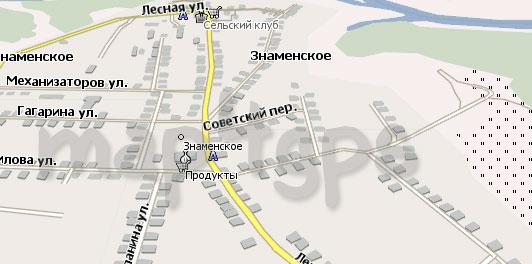 Карта Знаменское Навител