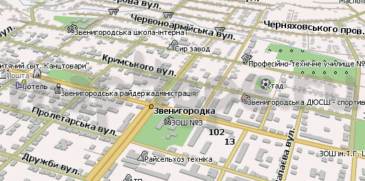 Карта Звенигородка для Навител