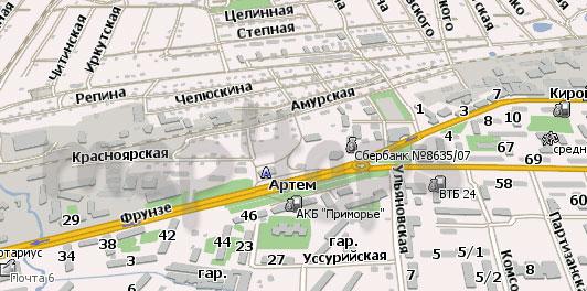 Карта Артема Навител Навигатор