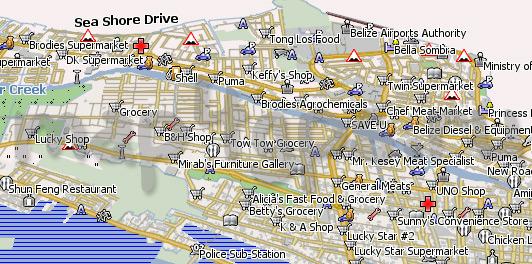 Карта города Белиз для Навител